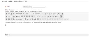 Blog-Entry