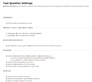 TestQuestionSettings