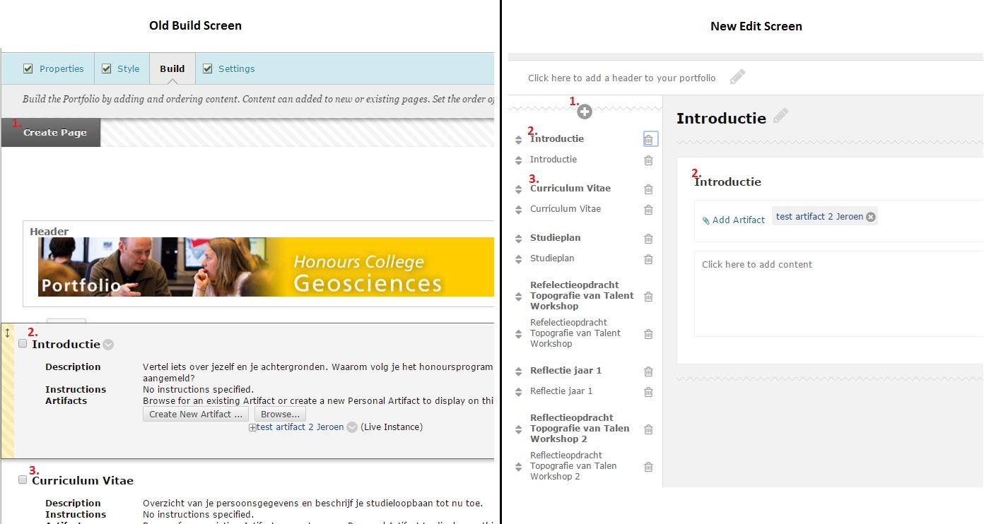 Portfolio Edit Screen