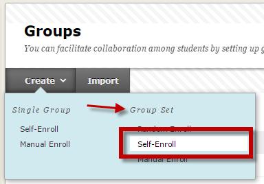 blackboard support uu create a self enrolled sign up sheet